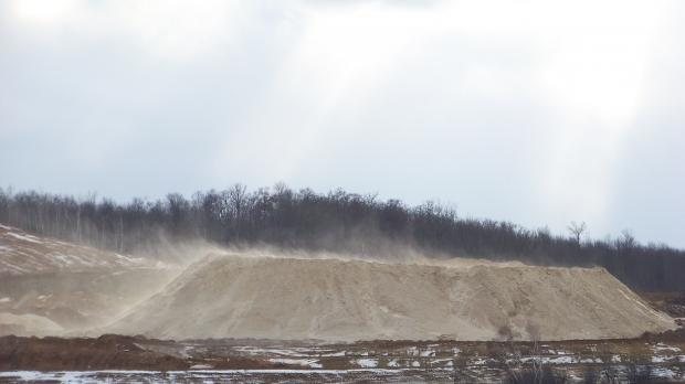 frac sand mine
