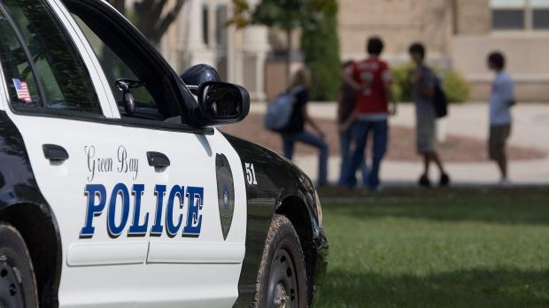 Police car at high school