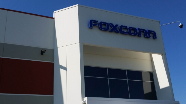 Foxconn sign