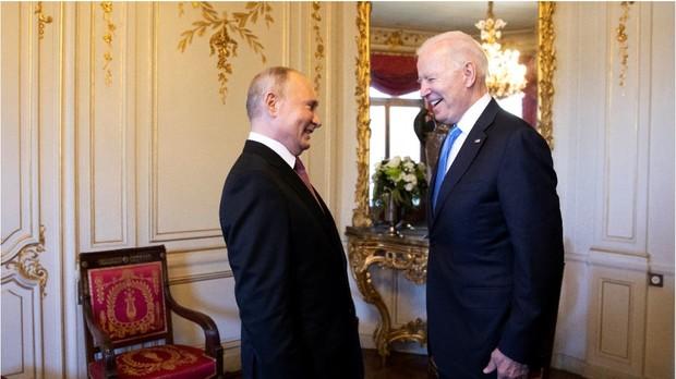 President Biden greets President Putin