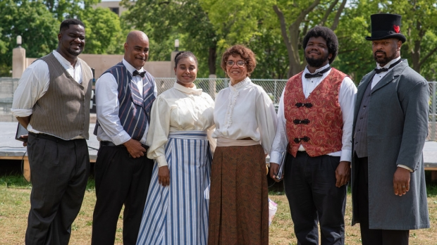 Enduring Families Project performers at Riverside Park