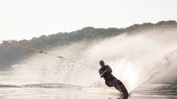 Person water skiiing