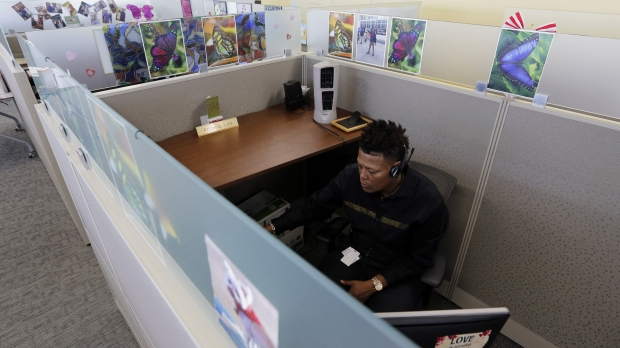An office worker at his desk
