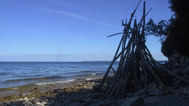 shore along Green Bay from Door Bluff Headlands Park