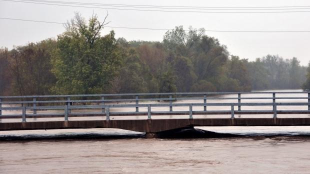 Trempeleau River flooding