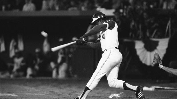 Hank Aaron hits 715th home run, April 8, 1974