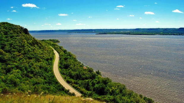 Lake Pepin view from Pepin County.