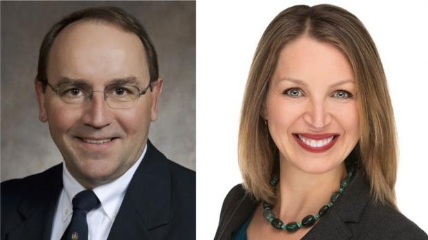 Tom Tiffany and Tricia Zunker