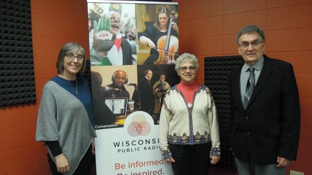 Sister Eileen McKenzie, Sister Rochelle Potaracke and Dan Johnson-Wilmot