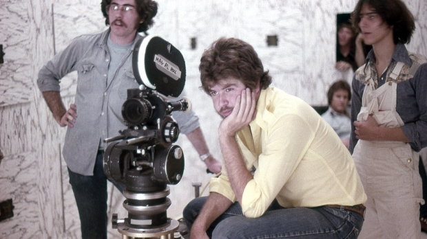 "Don Coscarelli pondering the next shot on the set of ""Phantasm"""