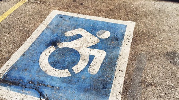 handicap parking spot