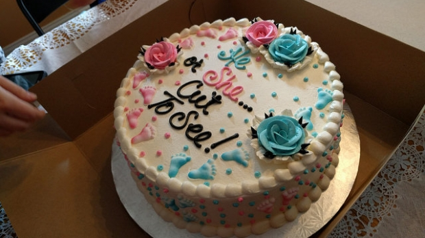 gender reveal, celebration, baby, pregnancy, party, cake