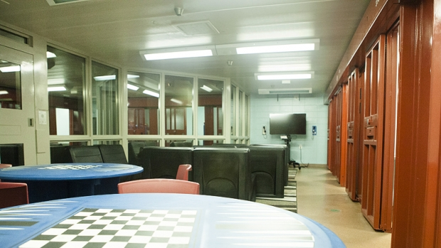 A library at the Racine County Juvenile Detention Center