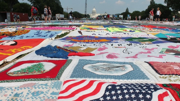 46th Annual Smithsonian Folklife Festival CREATIVITY AND CRISIS: UNFOLDING THE AIDS MEMORIAL QUILT Program on the National Mall in Washington DC on Wednesday afternoon, 4 July 2012