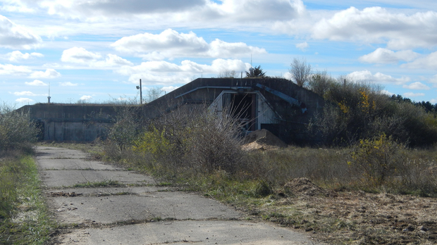 An old nitroglycerin storage bunker atSauk Prairie Recreation Area, the former Badger Army Ammunition Plant
