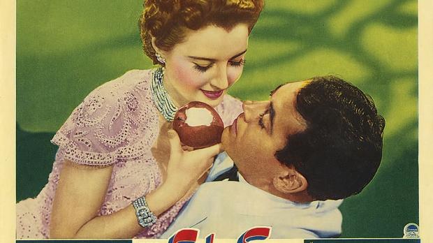 """The Lady Eve"" (1941) Lobby Card -- Barbara Stanwyck and Henry Fonda"