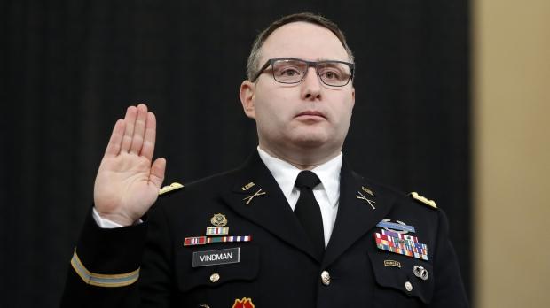 Former National Security Council aide Lt. Col. Alexander Vindman