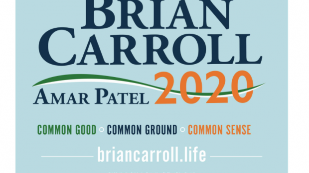 Brian Carroll's 2020 campaign sign