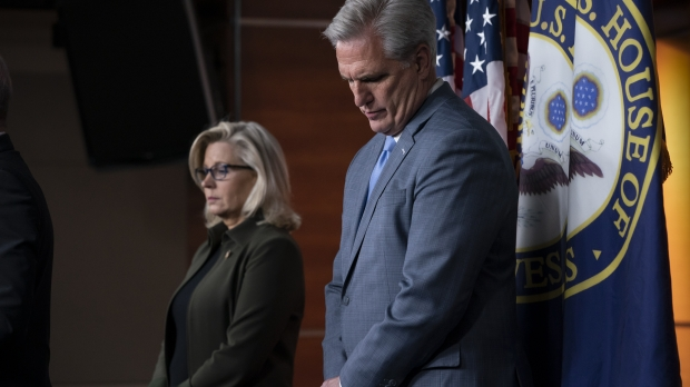 Reps. Liz Cheney and Kevin McCarthy