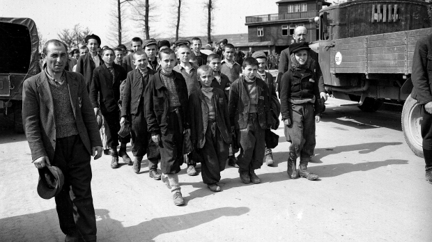 Children being liberated from Buchenwald in 1945