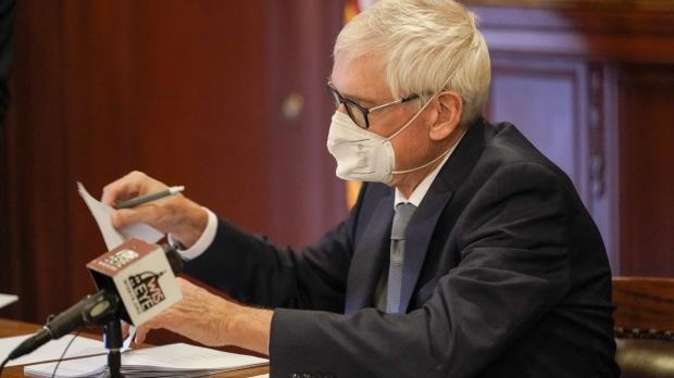 Gov. Tony Evers casting his Electoral College vote in 2020