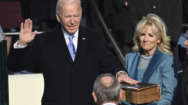 Joe Biden is sworn in as the 46th president of the United States