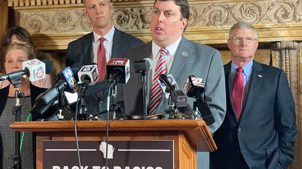 Wisconsin Republican law makers at a news conference