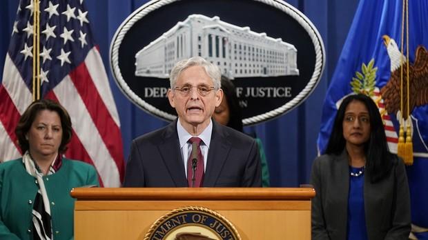 Attorney General Merrick Garland speaking