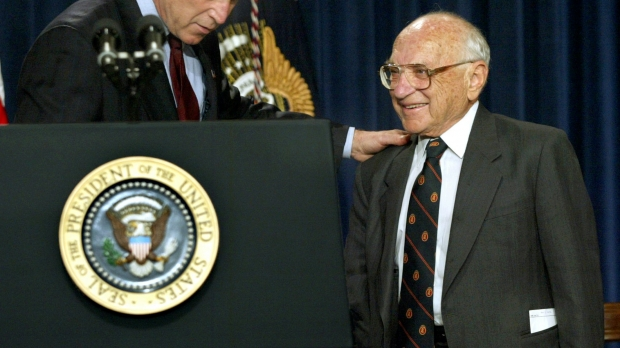 George W. Bush honors Milton Friedman