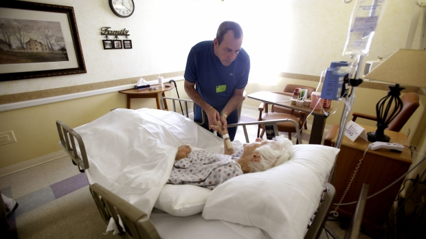 Woman in hospice care