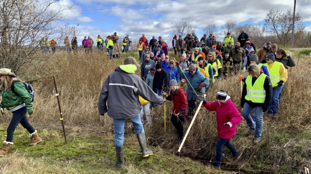 Volunteers search for Jayme Closs in October 2018