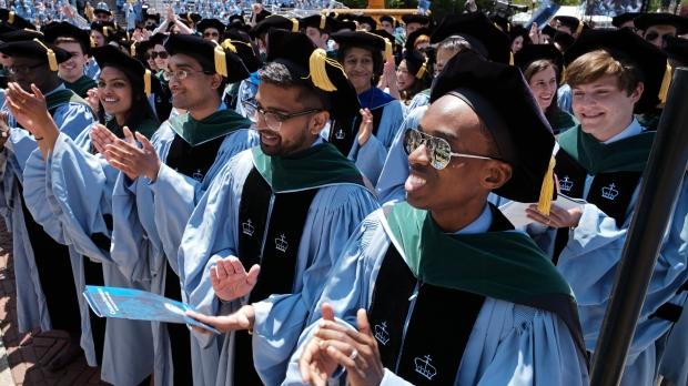 College students graduating