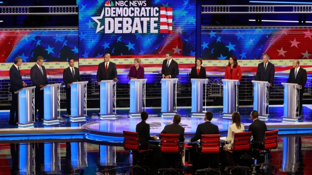2020 Democratic Presidential candidates on night one of Democratic Presidential Primary Debates