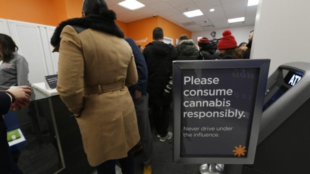 People buy marijuana at Illinois dispensary