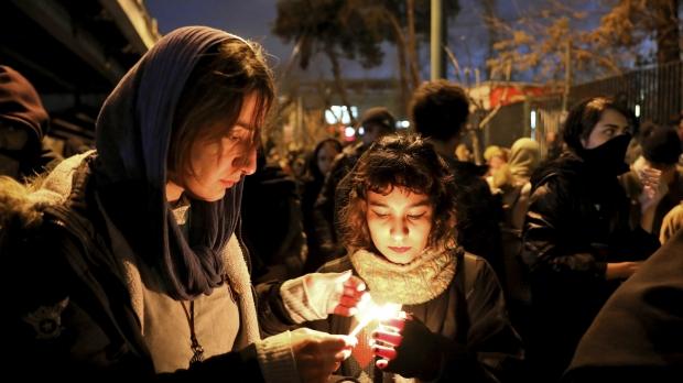 Vigil for plane crash in Iran