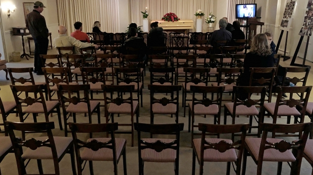 Empty chairs at a funeral
