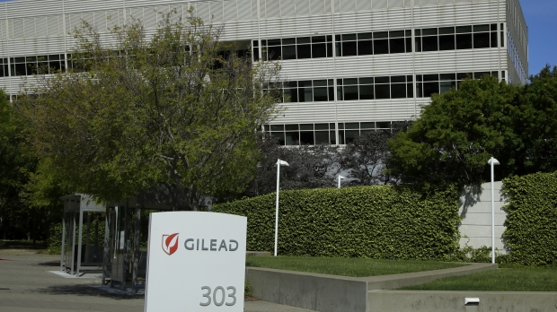 The headquarters of Gilead Sciences, the company that invented remdesivir