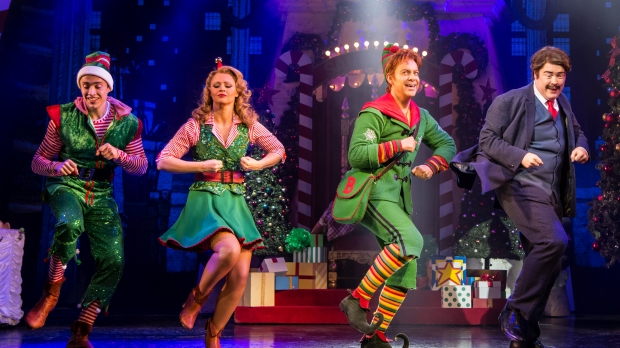 "Performers during a 2015 preview of the musical ""Elf"""