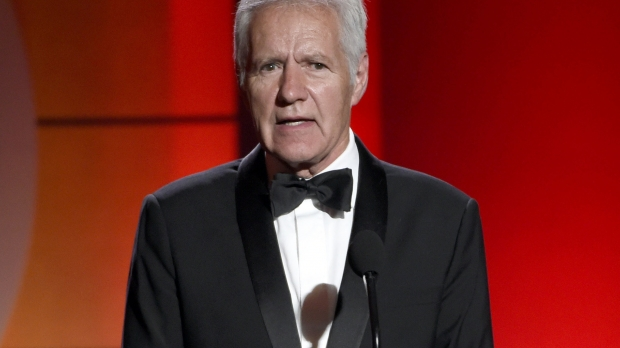 Alex Trebek on stage