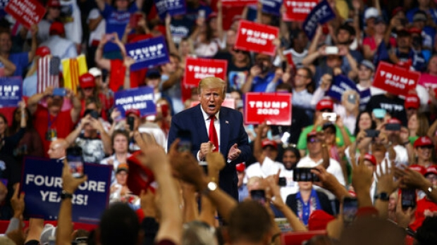 President Trump speaks to crowd at rally in Florida in June 2019