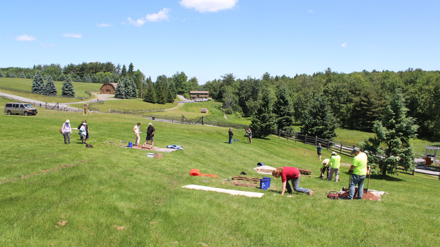 Archaeologists working at the site of Woodstock festival