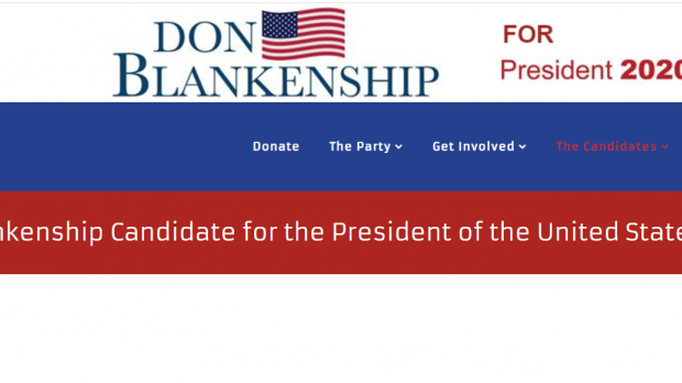 Don Blankenship's campaign website