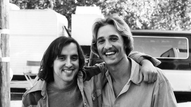 Director Richard Linklater and Actor Matthew McConaughey on the set of 1993's Dazed & Confused