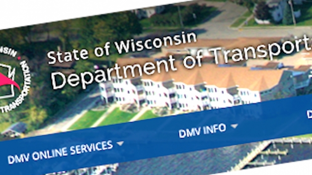 An image of the Wisconsin DOT website