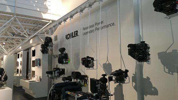 Kohler parts on display