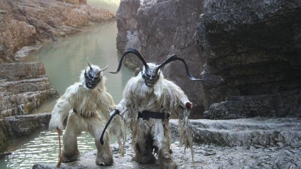 Members of Austria's Rifer Acheteifen dressed up as Krampuses