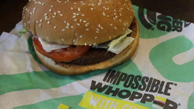 An Impossible Whopper burger