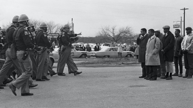 """Police attack protesters in Selma, Alabama, in 1965 during """"Bloody Sunday."""""""