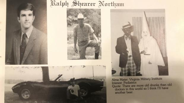 Virginia Gov. Ralph Northam's page in his 1984 Eastern Virginia Medical School yearbook