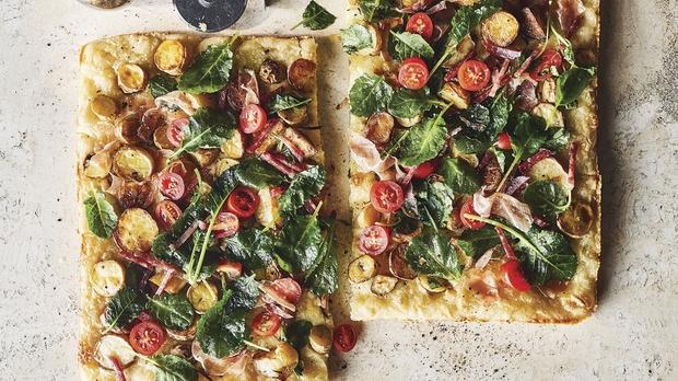 Rosemary potato pizza